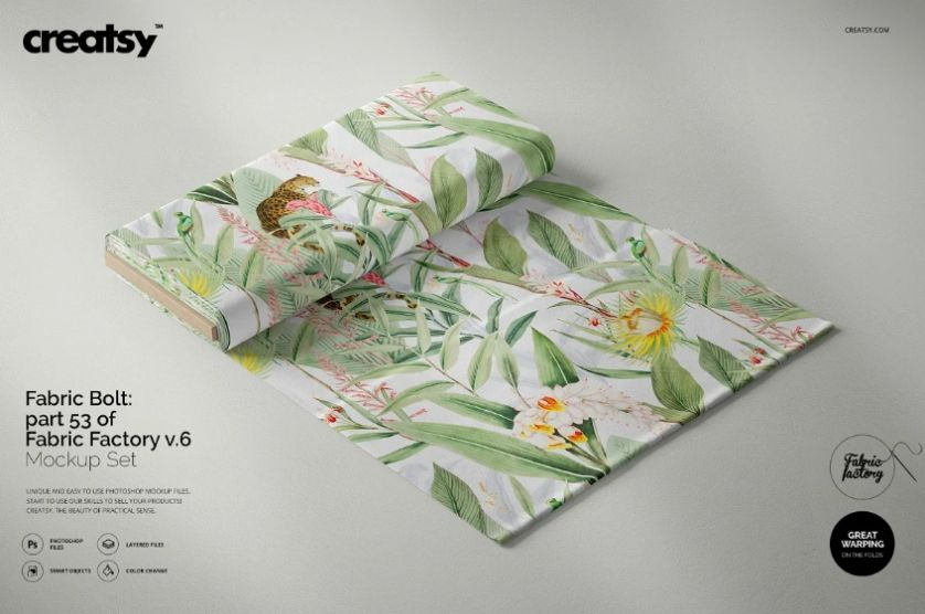 Editable Fabric Mockup PSD
