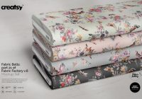 Fabric Bolts Mockup PSD