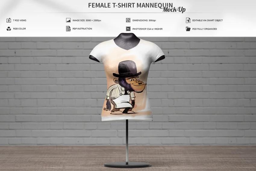 Fashion T Shirt Mockup PSD